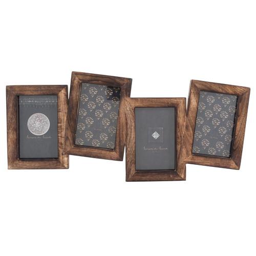 cadre photo 4 vues en bois nida. Black Bedroom Furniture Sets. Home Design Ideas