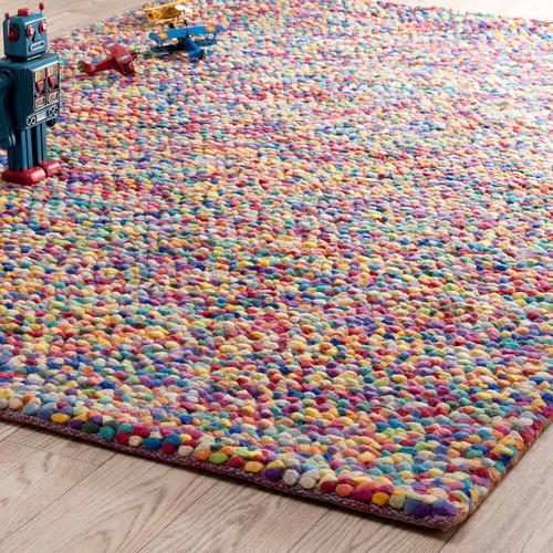 tapis en laine multicolore 140 x 200 cm rainbow maisons du monde. Black Bedroom Furniture Sets. Home Design Ideas