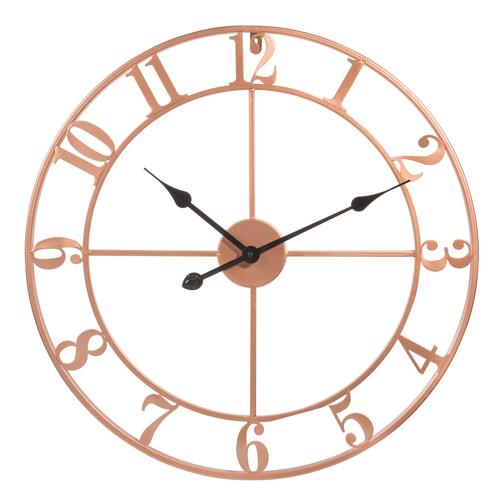 horloge en m tal cuivr d 60 cm copper maisons du monde. Black Bedroom Furniture Sets. Home Design Ideas