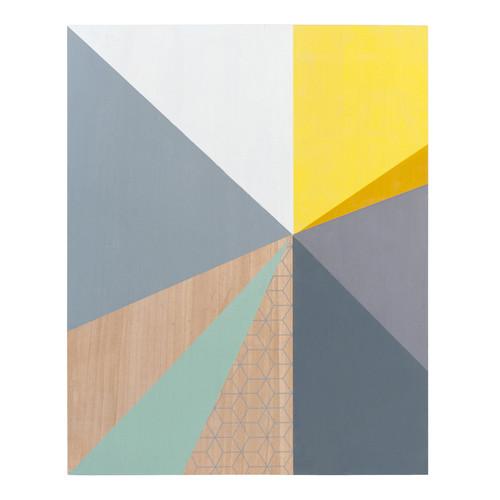 Tableau en bois 60 x 75 cm vintage designs maisons du monde for Tableau scandinave jaune