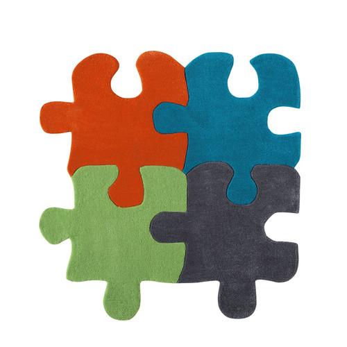 tapis enfant multicolore 116 x 116 cm puzzle maisons du monde. Black Bedroom Furniture Sets. Home Design Ideas