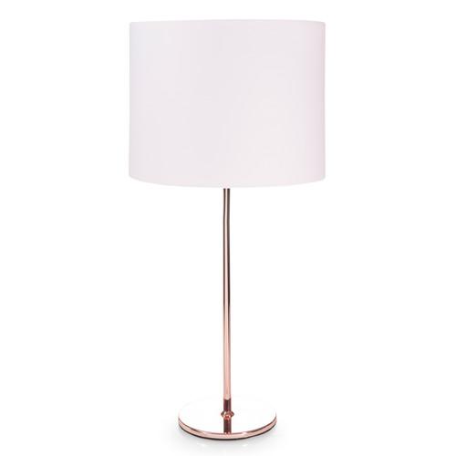 lampe en m tal cuivr et abat jour rose h 56 cm isa copper maisons du monde. Black Bedroom Furniture Sets. Home Design Ideas