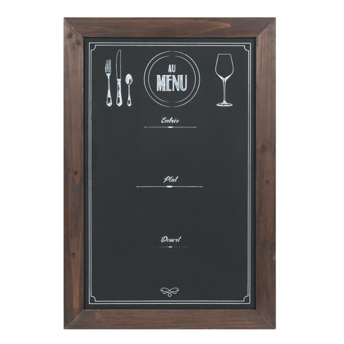 Tableau ardoise noir 48 x 70 cm au menu maisons du monde - Tableau ardoise noir ...