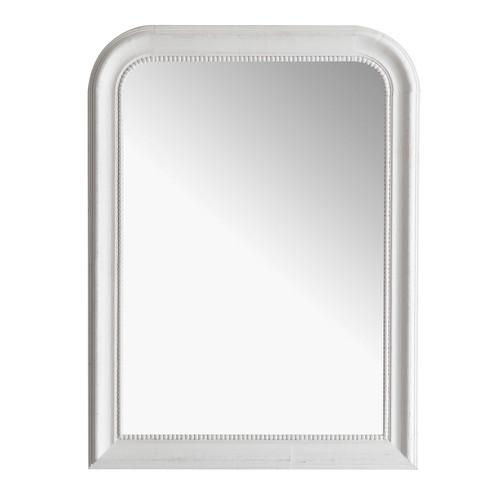 Miroir louis blanc 60x80 maisons du monde for Miroir 90x120