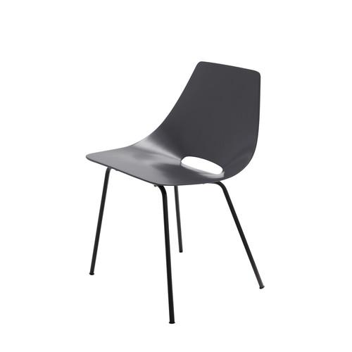 chaise tonneau gris anthracite guariche amsterdam maisons du monde. Black Bedroom Furniture Sets. Home Design Ideas