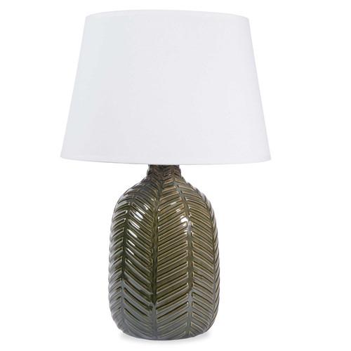 Lampe en c ramique verte h 36 cm namibie maisons du monde - Lampe industrielle maison du monde ...