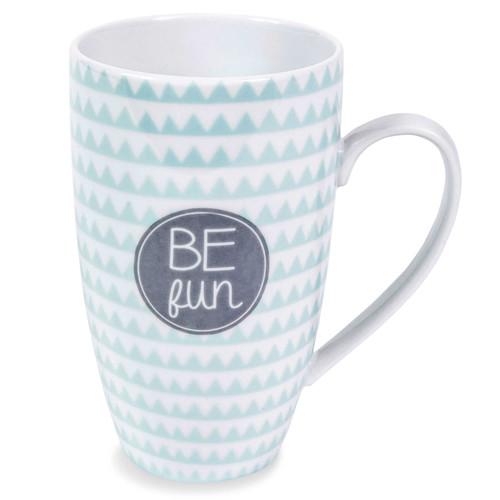 mug en porcelaine bleue be fun emma maisons du monde. Black Bedroom Furniture Sets. Home Design Ideas