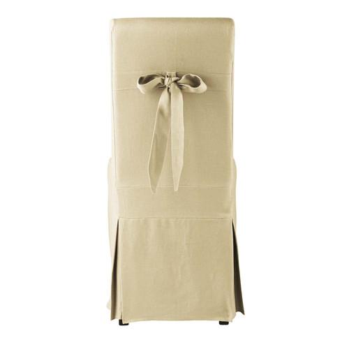 Housse de chaise n ud lin - Housse chaise lin ...
