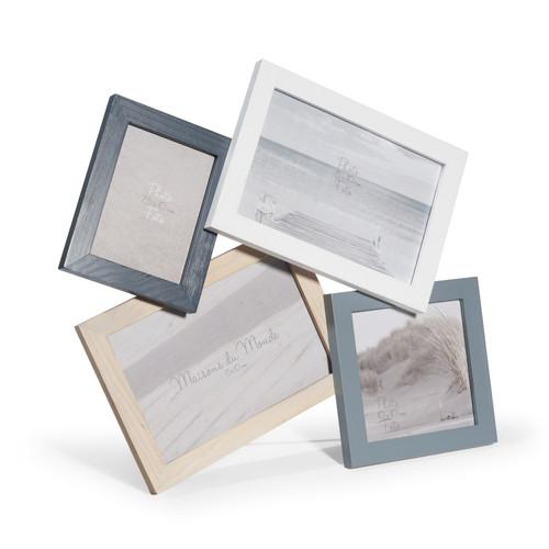 cadre photo 4 vues en bois 29 x 31 cm cyclades. Black Bedroom Furniture Sets. Home Design Ideas