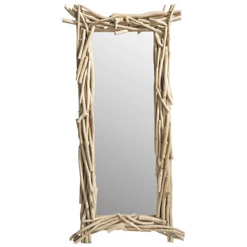 Miroir en bois h 153 cm rivage maisons du monde - Miroir bois flotte ...
