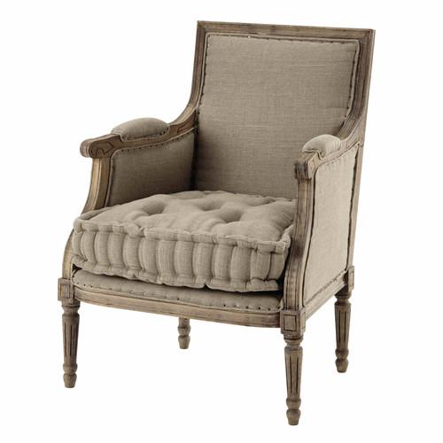 fauteuil en lin casanova maisons du monde. Black Bedroom Furniture Sets. Home Design Ideas