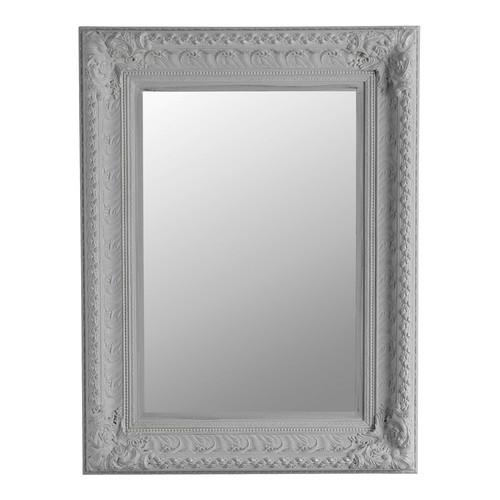 Miroir marquise gris 95x125 maisons du monde for Miroir baroque gris