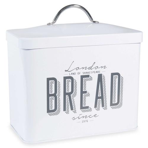 Bo te pain en m tal blanc oxford street maisons du monde for Boite a pain exterieur
