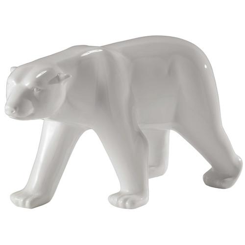 Statue ours en r sine blanche l 103 cm glacier maisons du monde - Statue exterieur design ...