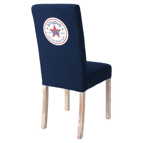 Housse de chaise enfant bleue margaux maisons du monde for Chaise rouge et bleue