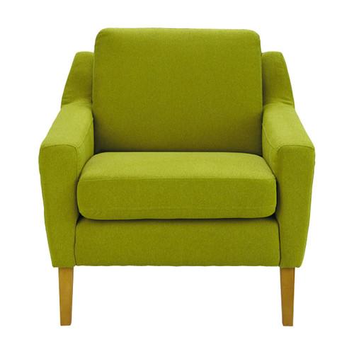 Fauteuil en tissu vert mad men maisons du monde - Fauteuil relax maison du monde ...