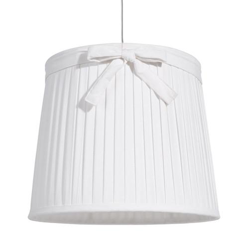 suspension non lectrifi e en m tal et toile blanche d 36 cm aubespine. Black Bedroom Furniture Sets. Home Design Ideas