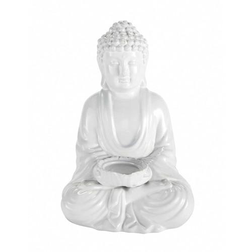 statue d co little bouddha blanc maisons du monde. Black Bedroom Furniture Sets. Home Design Ideas