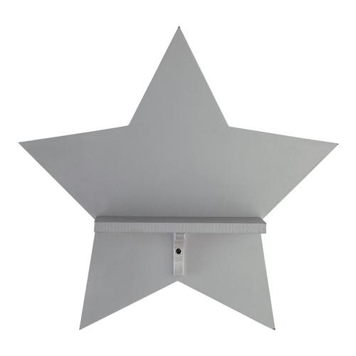 tag re murale en bois grise h 37 cm silver star maisons. Black Bedroom Furniture Sets. Home Design Ideas