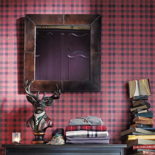 miroir cuir derby maisons du monde. Black Bedroom Furniture Sets. Home Design Ideas