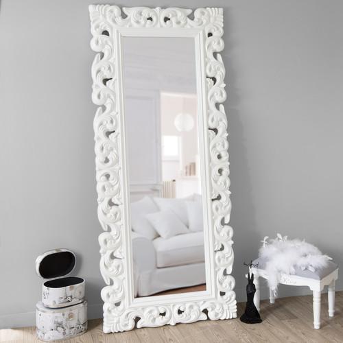 Miroir rivoli blanc 190x80 for Miroir 70x90