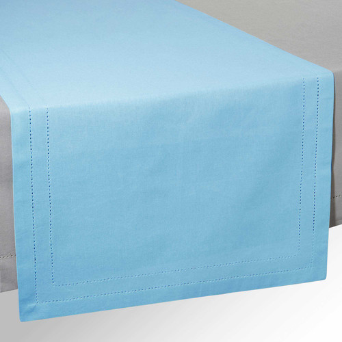 Runner da tavolo in cotone blu l 150 cm horizon maisons for Runner tavolo 2 metri