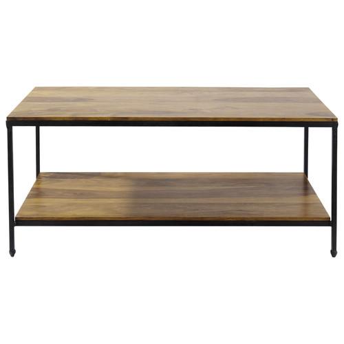 Table Basse Blanche Avec Rangement Pour Bar Integre ~ Table Basse Luberon  Maisons Du Monde