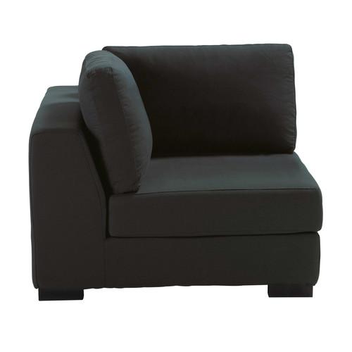 Angolo di divano color antracite in cotone terence - Divano grigio antracite ...