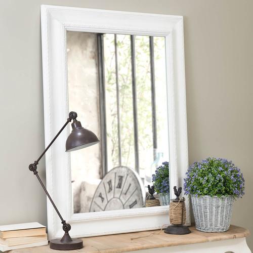 Miroir l onore blanc 113x82 for Miroir 90x140