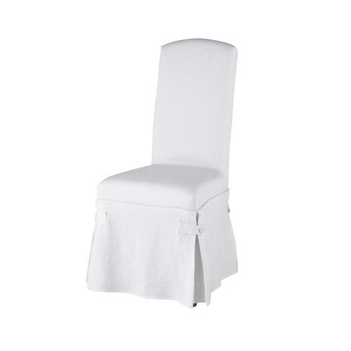 housse longue de chaise en lin blanche alice maisons du monde. Black Bedroom Furniture Sets. Home Design Ideas