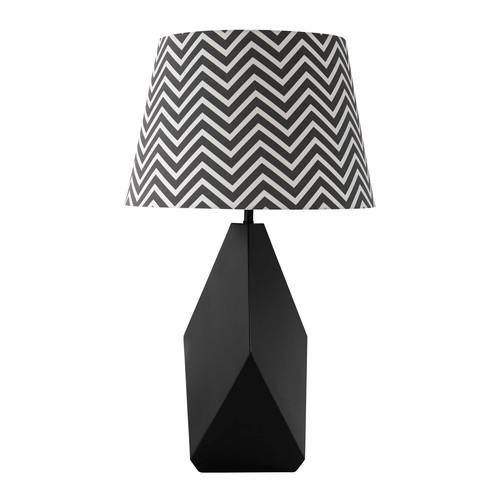 abat jour sospese : Lampada in metallo e abat-jour in cotone nero H 69 cm BONIFACIO ...