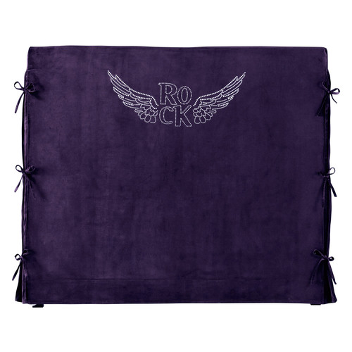 housse de t te de lit violette rock 140cm. Black Bedroom Furniture Sets. Home Design Ideas