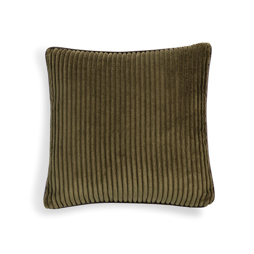coussin en velours vert beige 40 x 40 cm berry maisons du monde. Black Bedroom Furniture Sets. Home Design Ideas