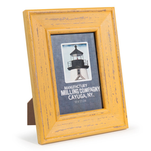 Cornice foto gialla in legno 17 x 22 cm batz maisons du for Cornice foto legno
