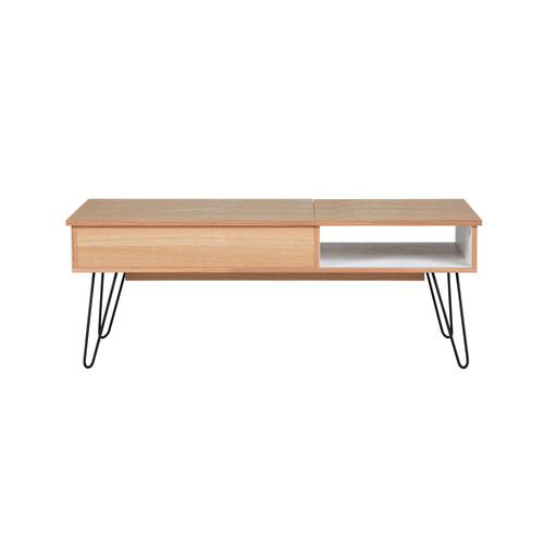table basse vintage en bois et m tal l 115 cm twist maisons du monde. Black Bedroom Furniture Sets. Home Design Ideas