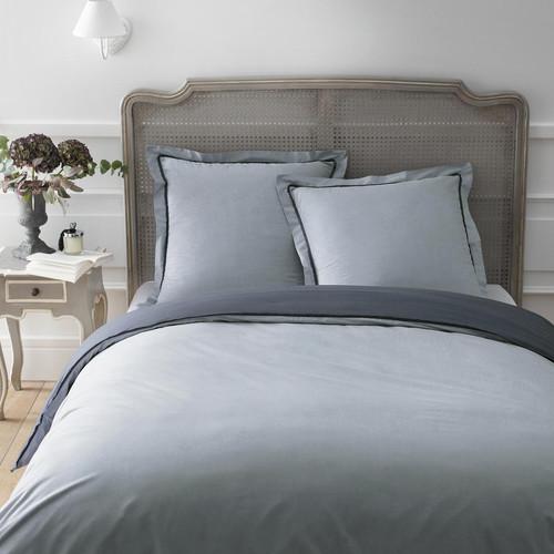 parure housse de couette gris anthracite 260x240 2 taies d 39 oreiller uni maisons du monde. Black Bedroom Furniture Sets. Home Design Ideas