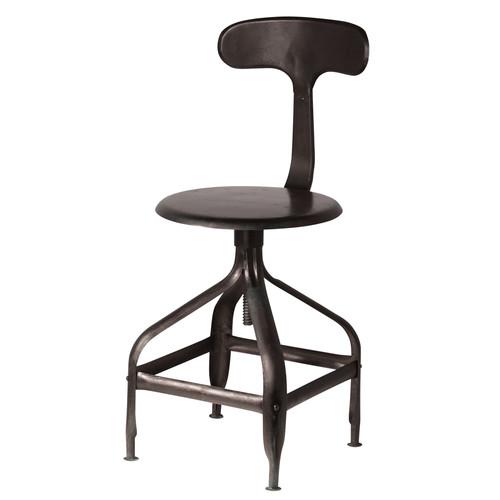 Chaise noire indus t l graphe maisons du monde - Maison du monde chaise de bar ...