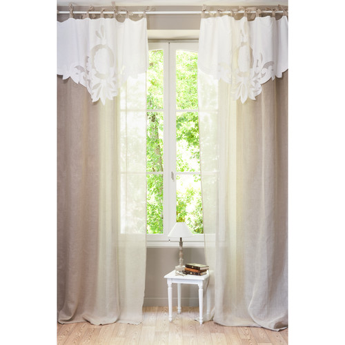 rideau lin romance maisons du monde. Black Bedroom Furniture Sets. Home Design Ideas