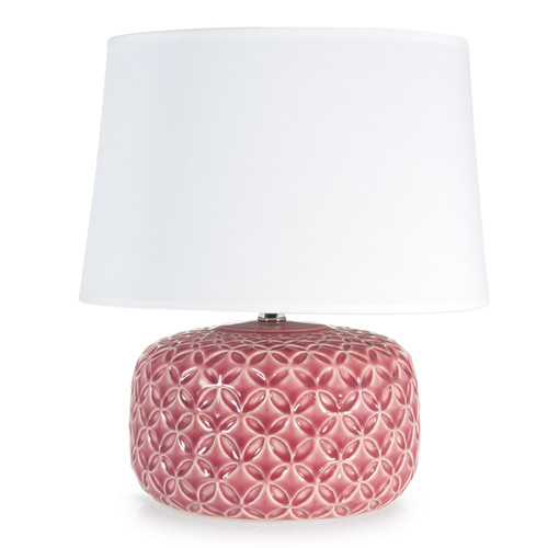 Lampe en c ramique rose fuchsia h 34 cm maisons du monde - Lampe industrielle maison du monde ...