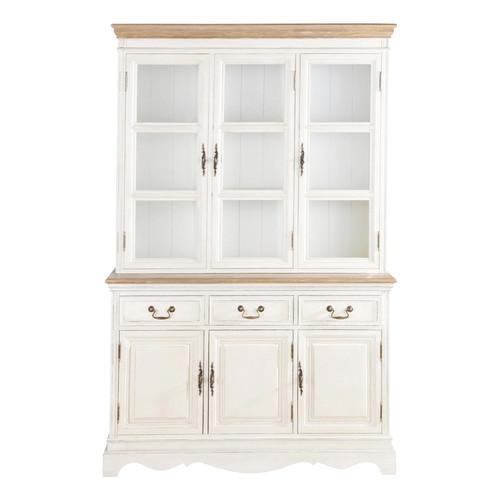 vaisselier en bois cr me l 123 cm l ontine maisons du monde. Black Bedroom Furniture Sets. Home Design Ideas