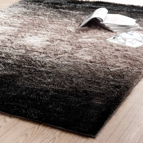 tapis edison poils longs bruns 160x230 maisons du monde. Black Bedroom Furniture Sets. Home Design Ideas