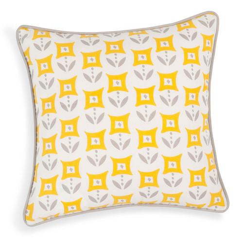 Housse de coussin en coton jaune 40 x 40 cm cascais for Housse coussin rond 40 cm