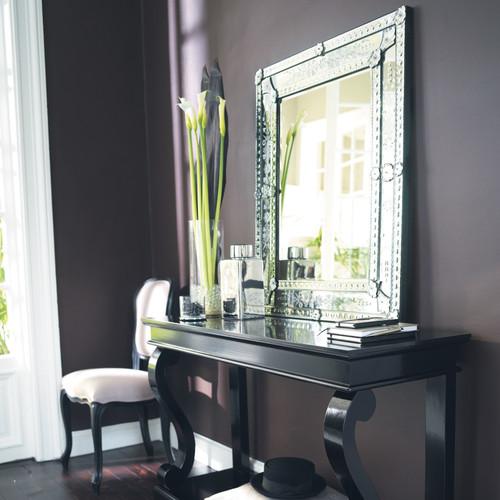 Miroir en verre h 90 cm v nitien maisons du monde for Miroir 30 90