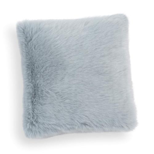 Housse de coussin en fausse fourrure bleue 38 x 38 cm samoens - Housse de coussin fausse fourrure ...