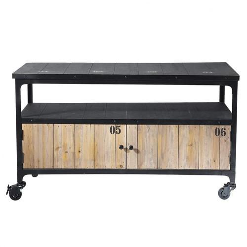Gartenmobel Im Toom Baumarkt : Docks RollTVMöbel im IndustryStil aus Metall und Holz, B 110 cm