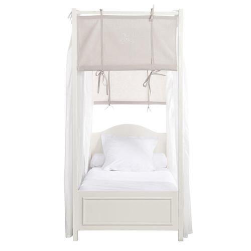 lit baldaquin bois blanc. Black Bedroom Furniture Sets. Home Design Ideas