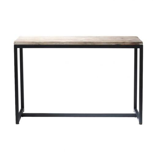 Table console indus en m tal et bois massif noire l 119 cm - Maison du monde long island ...