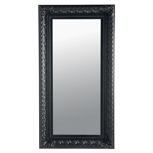 Miroir marquise noir 95x180 maisons du monde for Miroir baroque noir rectangulaire