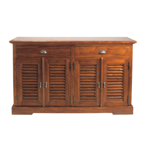 credenza in massello di tek l 150 cm key largo maisons du monde. Black Bedroom Furniture Sets. Home Design Ideas
