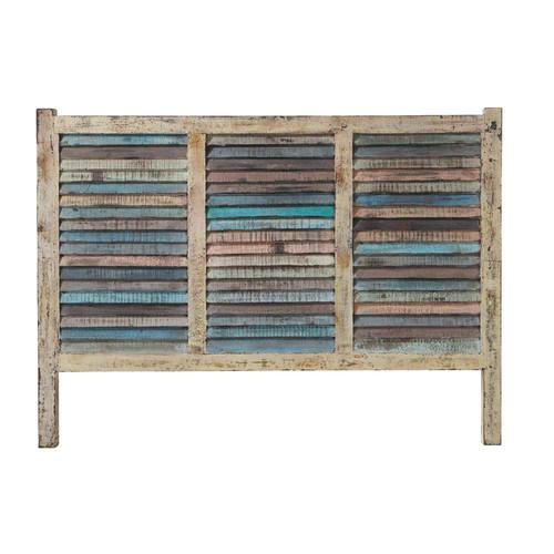 T te de lit en bois recycl l 160 cm bahia maisons du monde - Tete de lit bois 160 ...